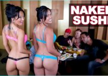 Porno HD Sushi de Buceta com Garotas Metendo